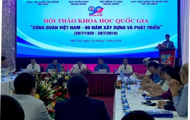 "Pembukaan lokakarya: ""Serikat Buruh Viet Nam-90 tahun terbentuk dan berkembangnya"" - ảnh 1"