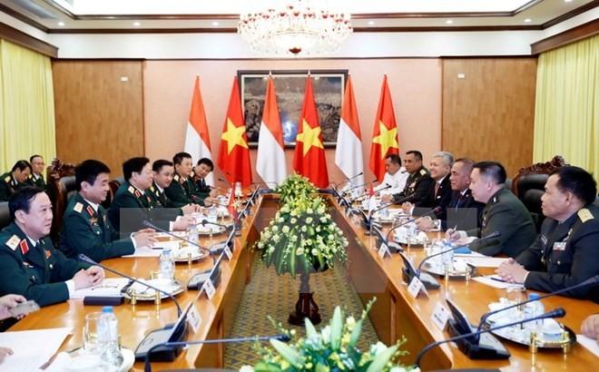 Vietnam, Indonesia enhance defense cooperation  - ảnh 1