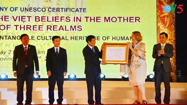 UNESCO's recognition of Mother Goddess Worship celebrated - ảnh 1