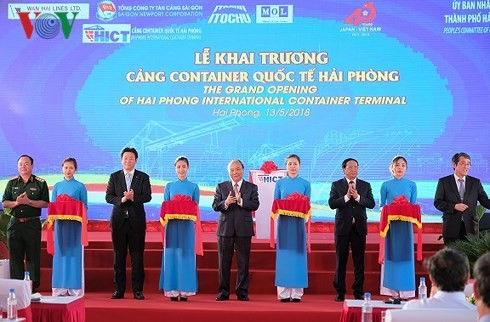 Hai Phong International Container Terminal welcomes first ship - ảnh 1