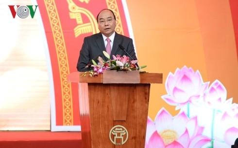 Thủ tướng đánh trống khai mạc Hội Báo toàn quốc 2019 tại Hà Nội - ảnh 2