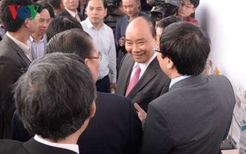 Thủ tướng đánh trống khai mạc Hội Báo toàn quốc 2019 tại Hà Nội - ảnh 6
