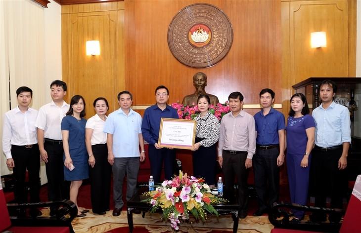 Le bureau présidentiel collecte des fonds en faveur des sinistrés des crues au Nord - ảnh 1