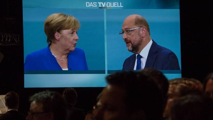 Elections en Allemagne: Angela Merkel donnée gagnante du débat face à Martin Schulz - ảnh 1