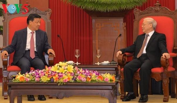 Le SG du PCV reçoit un responsable chinois - ảnh 1