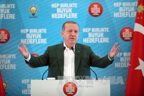 Tayyip Erdogan: La Turquie ne se laissera pas menacer par l'Irak et la Syrie - ảnh 1