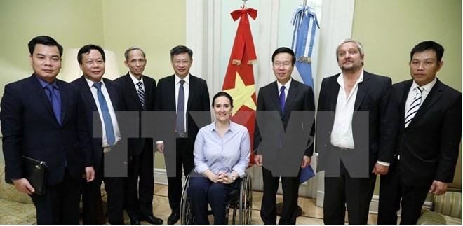 Une délégation du Parti communiste du Vietnam en visite en Argentine - ảnh 1
