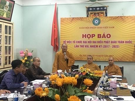 Le 8ème congrès de l'église bouddhique du Vietnam s'ouvrira le 21 novembre - ảnh 1