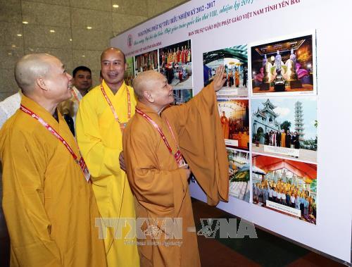 Vernissage de l'exposition sur les acquis du bouddhisme vietnamien - ảnh 1