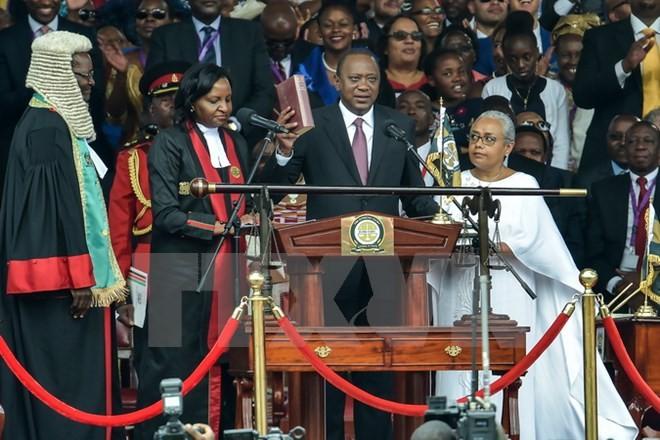 Uhuru Kenyatta, investi président, promet d'unifier le Kenya - ảnh 1