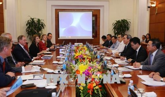 Nguyên Van Binh reçoit une délégation d'experts internationaux en énergie - ảnh 1