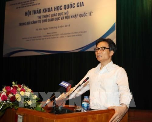 Le vice-Premier ministre Vu Duc Dam plaide pour une éducation ouverte - ảnh 1