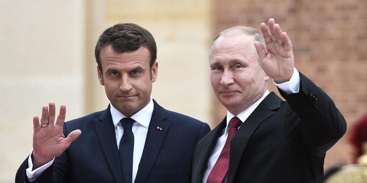Emmanuel Macron à Saint-Pétersbourg pour parler Iran, Syrie et Ukraine  - ảnh 1