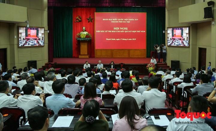 Nguyên Phu Trong rencontre l'électorat hanoien - ảnh 1