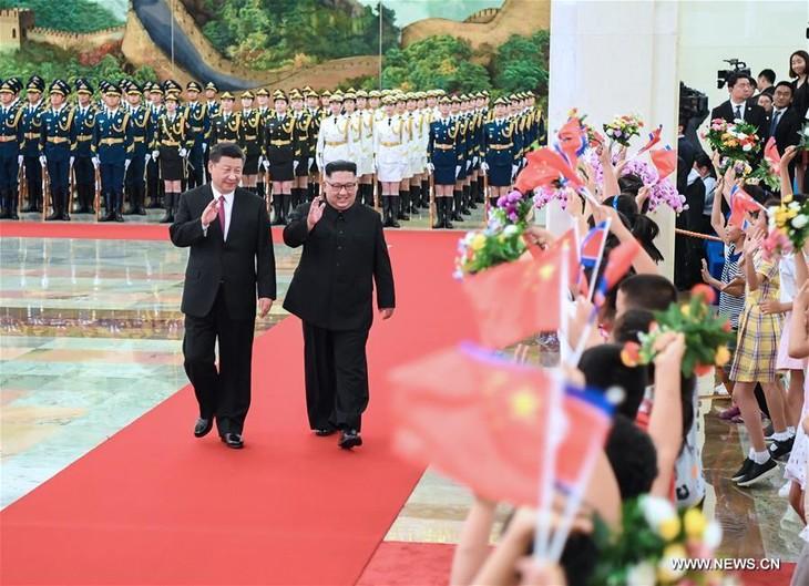 Kim Jong-un rencontre Xi Jinping à Pékin - ảnh 1
