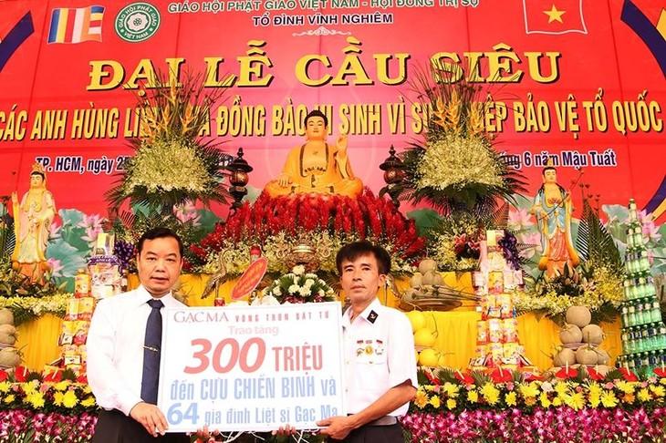 L'Église bouddhique du Vietnam prie pour les morts pour la Patrie - ảnh 2