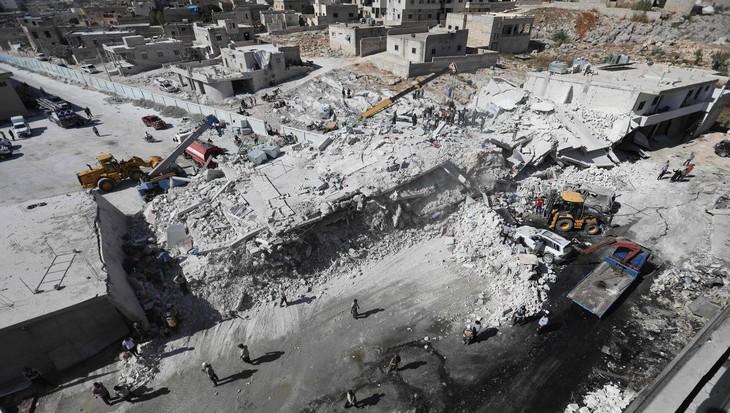 Syrie: 39 civils tués dans l'explosion d'un dépôt d'armes - ảnh 1