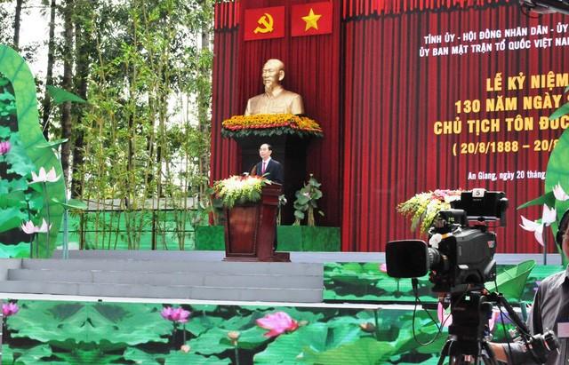 Célébration du 130e anniversaire du Président Tôn Duc Thang - ảnh 1