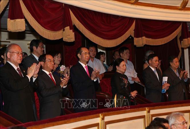 Trân Dai Quang au concert en l'honneur des 45 ans des relations diplomatique Vietnam-Japon - ảnh 1
