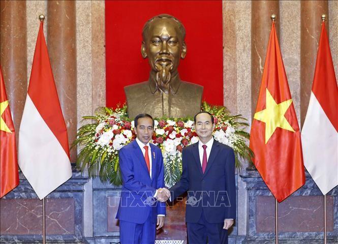 Cérémonie d'accueil en l'honneur du président indonésien - ảnh 1