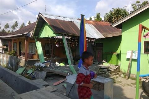 Séisme en Indonésie : au moins cinq personnes disparues après le tsunami - ảnh 1