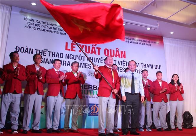 ASIAN Para Games 18: la délégation vietnamienne est arrivée en Indonésie - ảnh 1