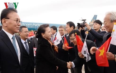 Nguyên Thi Kim Ngân arrivée en République de Corée - ảnh 1