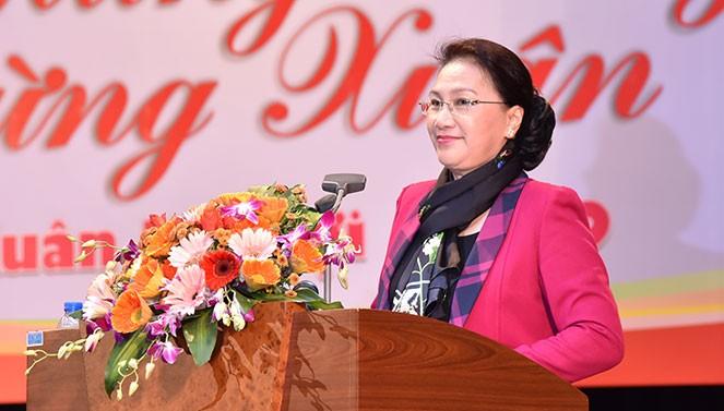 Reprise du travail après le Têt : Nguyên Thi Kim Ngân présente ses vœux de Nouvel an  - ảnh 2