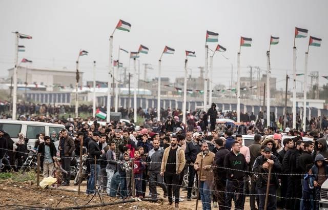 Gaza : manifestations massives à la frontière israélienne, quatre Palestiniens tué - ảnh 1
