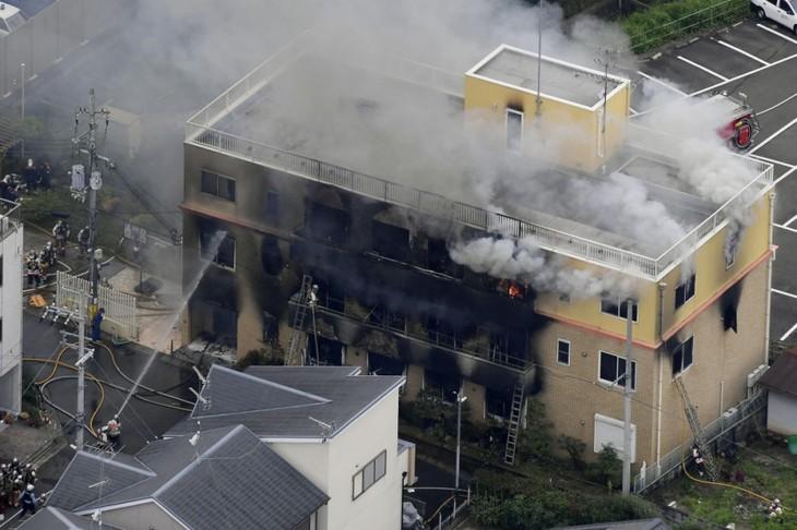 Japon: Au moins 33 morts dans l'incendie du studio Kyoto Animation, un homme a été arrêté - ảnh 1