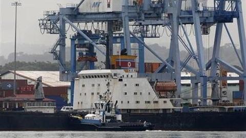 国連、武器輸送の朝鮮貨物船を調査 - ảnh 1