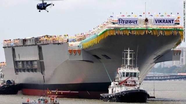 インド初の国産空母が進水 - ảnh 1