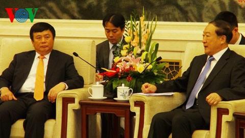 越中友好協会代表団、中国訪問 - ảnh 1