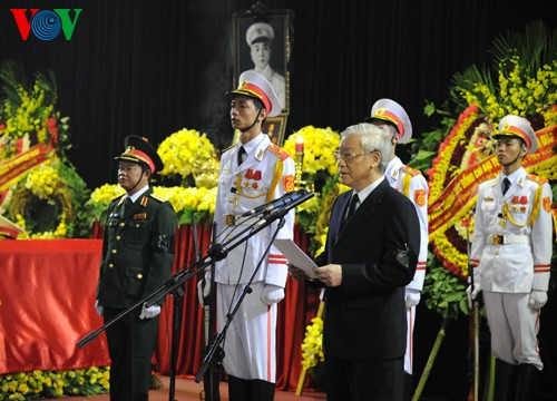 ザップ将軍の追悼式と埋葬式 - ảnh 2