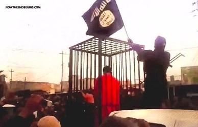 「イスラム国」、クルド人捕虜を檻に入れて市中引き回す焼殺予告 - ảnh 1