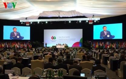 サン国家主席、アジア・アフリカ首脳会議に出席 - ảnh 1