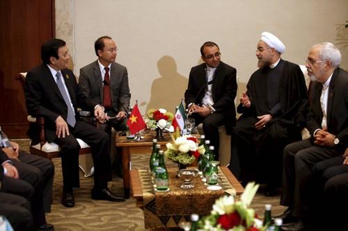 サン国家主席、アジア・アフリカ首脳会議の出席者と会見 - ảnh 1