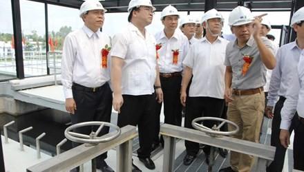 ハイ副首相、トゥソン町の廃水処理工場の落成式に出席 - ảnh 1