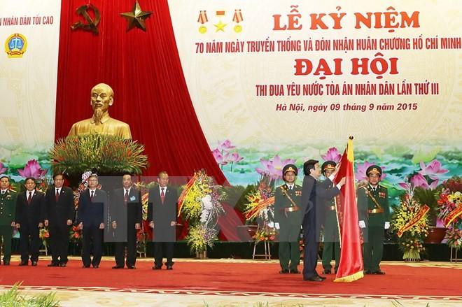 最高人民裁判所創立70周年記念式典 - ảnh 1