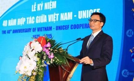 ベトナム政府とユニセフの協力関係構築40周年記念式典 - ảnh 1
