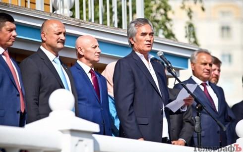 在ウクライナベトナム大使、「国際平和デー」に参加 - ảnh 1
