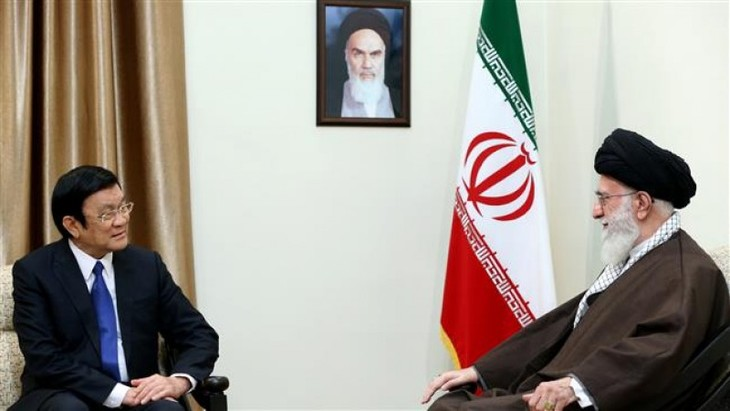 サン主席、イラン最高指導者と会見 - ảnh 1