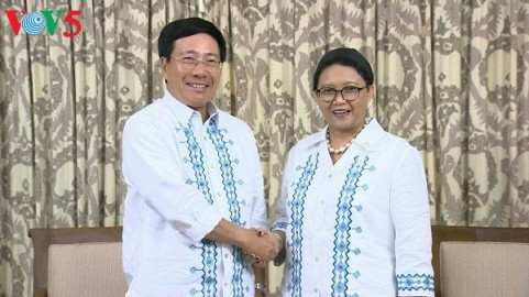 ミン副首相兼外相、インドネシアとフィリピン外相と会見 - ảnh 1