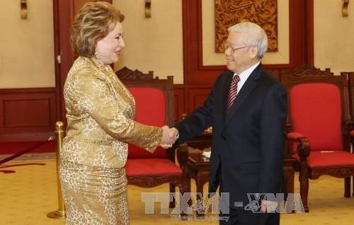 チョン書記長、ロシア上院議長と会見 - ảnh 1