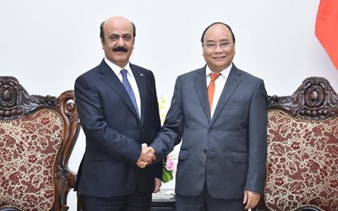 フック首相、ミャンマーやカタール大使と会見 - ảnh 2