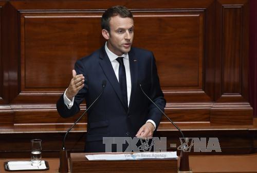 仏革命記念日 米仏大統領が参加で強固な関係アピール - ảnh 1