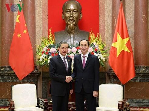 クアン国家主席、中国の王毅外相と会見 - ảnh 1