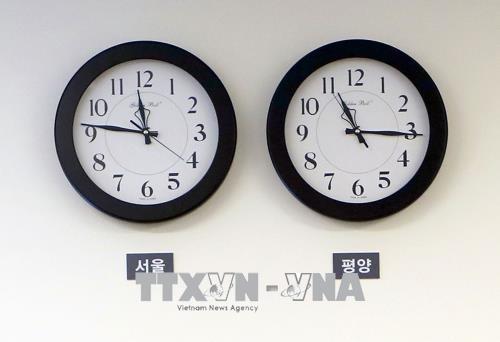 朝鮮、標準時を韓国と統一  - ảnh 1