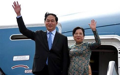 クアン国家主席夫妻、日本を訪問 - ảnh 1
