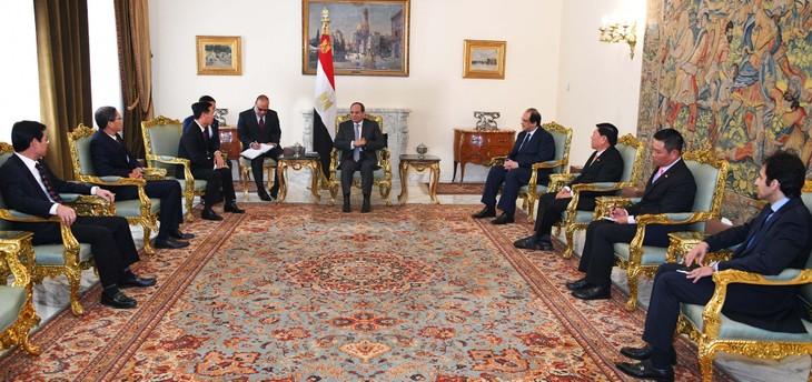 中央宣伝教育委員長、エジプトを訪問 - ảnh 1